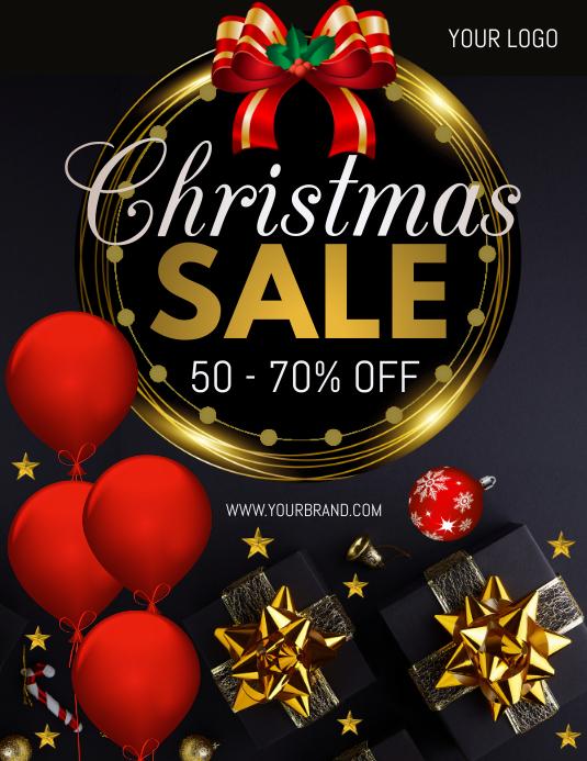 christmas sale, christmas 传单(美国信函) template