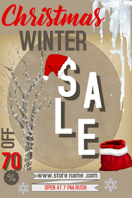 Christmas sale Poster Template,christmas retail template
