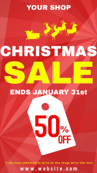 Christmas sale 50%off Instagram Story