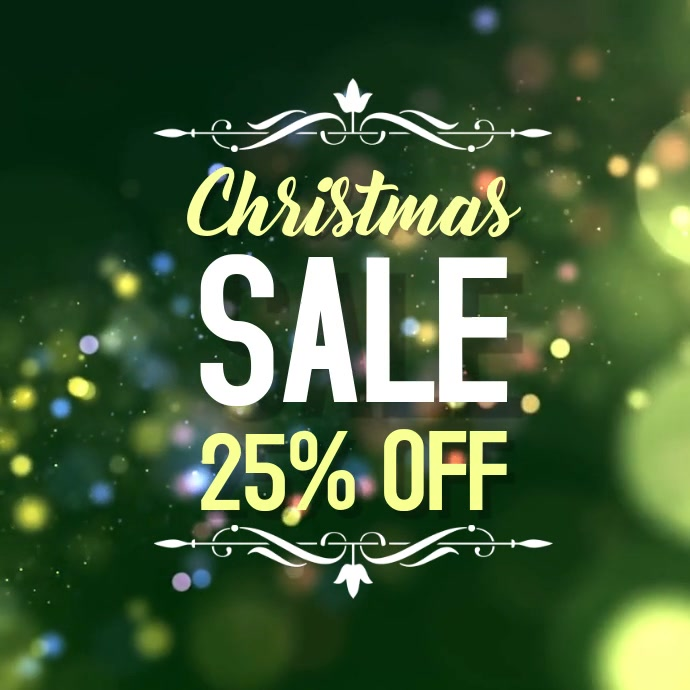 Christmas Sale Ad Promo video merry christmas xmas offer