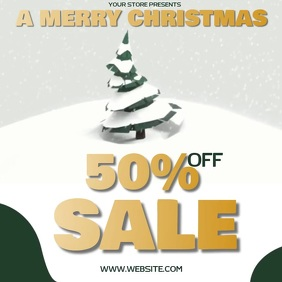 CHRISTMAS SALE AD SOCIAL MEDIA TEMPLATE