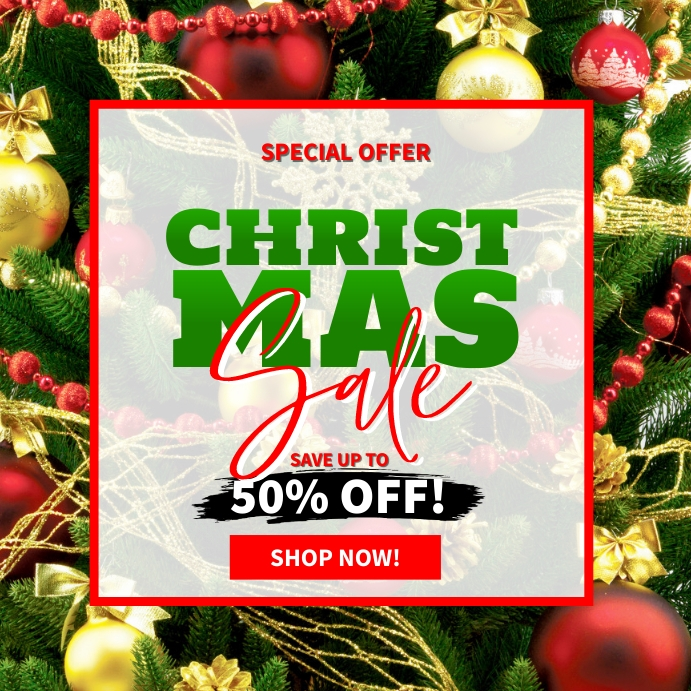 Christmas Sale Ad Template Instagram Post