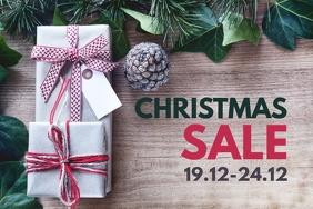 Christmas Sale Advert Header Cover Decoration