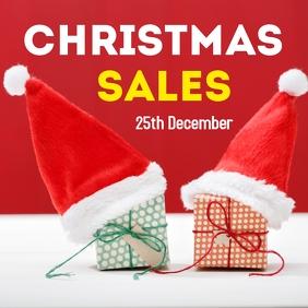 Christmas sale advertisement instagram post