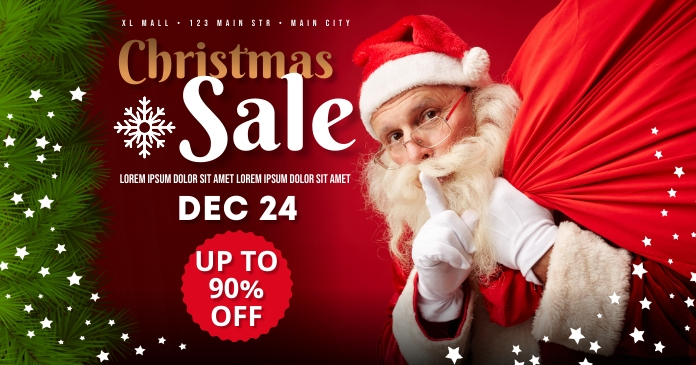 CHRISTMAS SALE BANNER Facebook Shared Image template