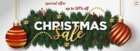 Christmas sale banner Фотография обложки профиля Facebook template
