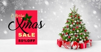 Christmas Sale Banner Facebook 活动封面 template