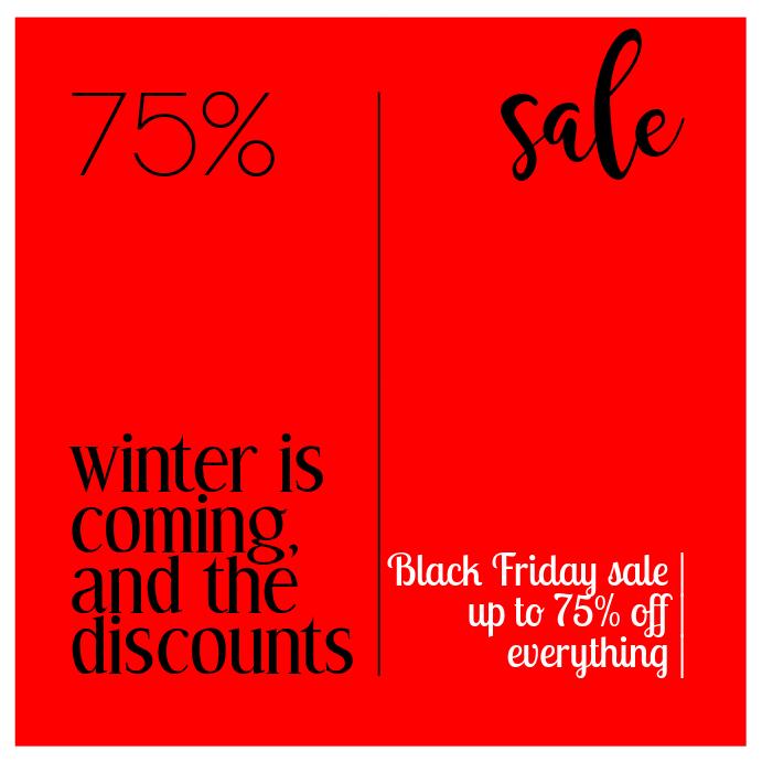 Black Friday Sale Banner for Instagram
