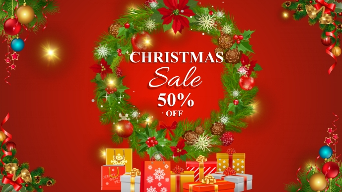 Christmas Sale Presentation (16:9) template
