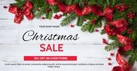 Christmas sale Gambar Bersama Facebook template