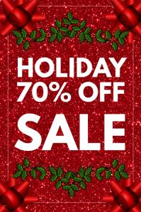 Christmas sale 横幅 4' × 6' template