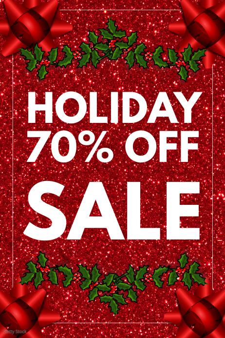 Christmas sale Баннер 4' × 6' template