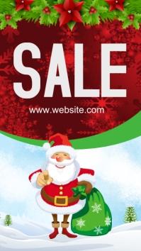 Christmas Sale เรื่องราวบน Instagram template