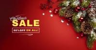 Christmas Sale Couverture d'événement Facebook template
