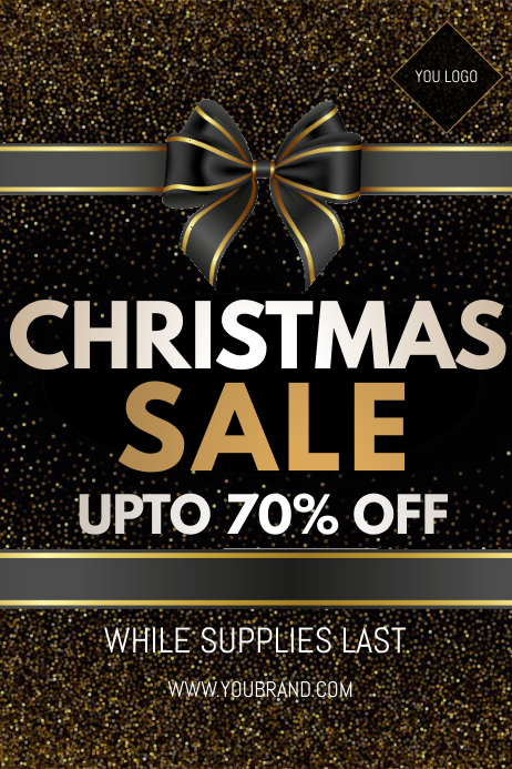 Christmas sale 海报 template
