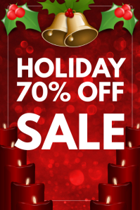 Christmas sale Banner 4' × 6' template