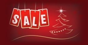 CHRISTMAS SALE Facebook Advertensie template