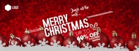Christmas sale Fotografia de capa do Facebook template
