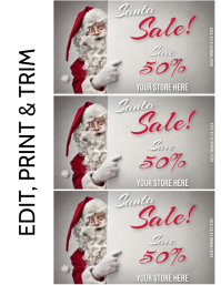 CHRISTMAS SALE Volantino (US Letter) template