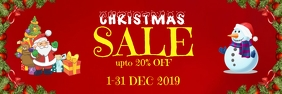 Christmas sale Banner 2' × 6' template