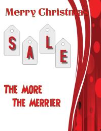 Christmas Sale Рекламная листовка (US Letter) template