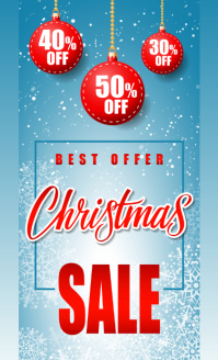 christmas sale VSA Wetlik template