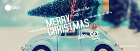 Christmas sale Couverture Facebook template