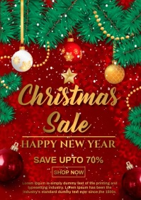 christmas sale A4 template