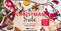 Christmas sale Facebook Shared Image template
