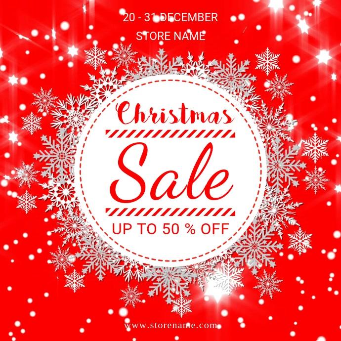 Christmas sale Publicación de Instagram template