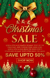 christmas sale Tabloide template