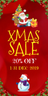 Christmas sale Roll Up Banner 3' × 6' template