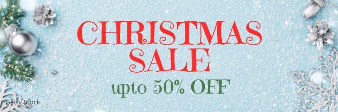 Christmas sale Banner 2 x 6 fod template