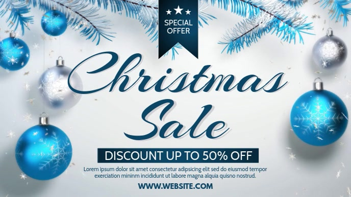CHRISTMAS SALE Facebook Cover Video (16:9) template