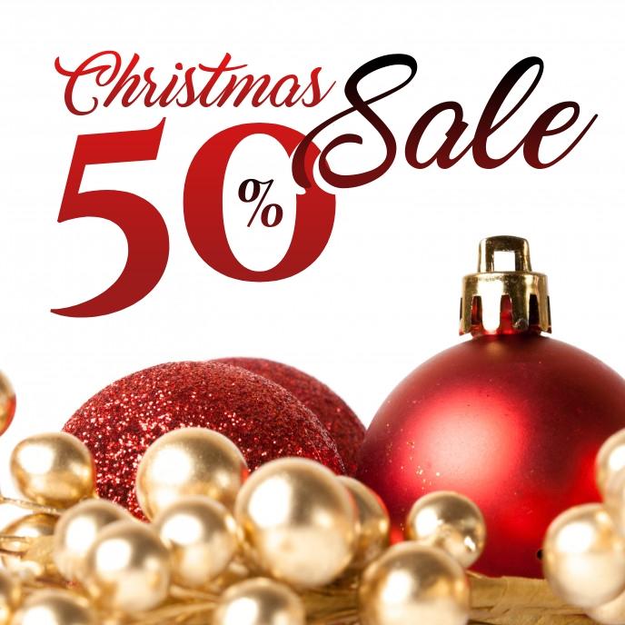 Christmas Sale Copertina album template