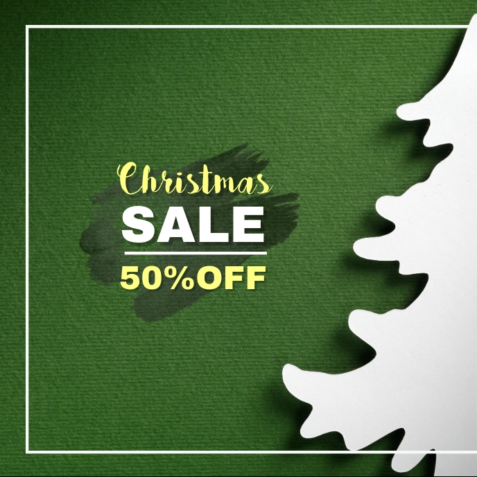 Christmas Sale Sampul Album template