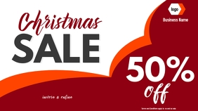christmas sale digital display template