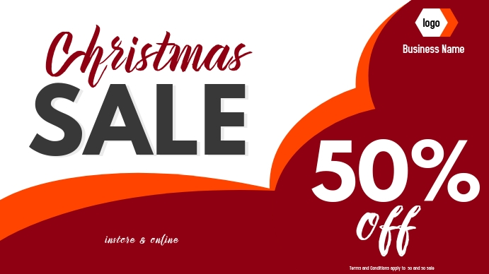 christmas sale digital display 数字显示屏 (16:9) template