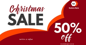 christmas sale digital display Image partagée Facebook template