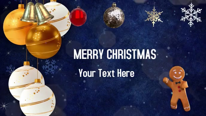 Christmas sale discount greetings Vídeo de portada de Facebook (16:9) template
