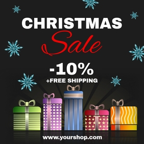 Christmas Sale Discount Price Off Shopping Ad