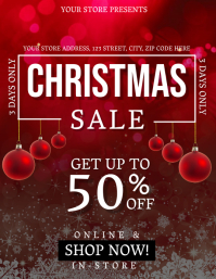Christmas Sale Event Flyer Template