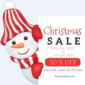 Christmas Sale Event Flyer template Persegi (1:1)