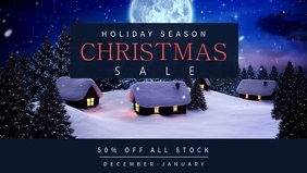 Christmas Sale Facebook Cover video Template