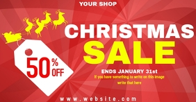 Christmas sale Facebook shared Image