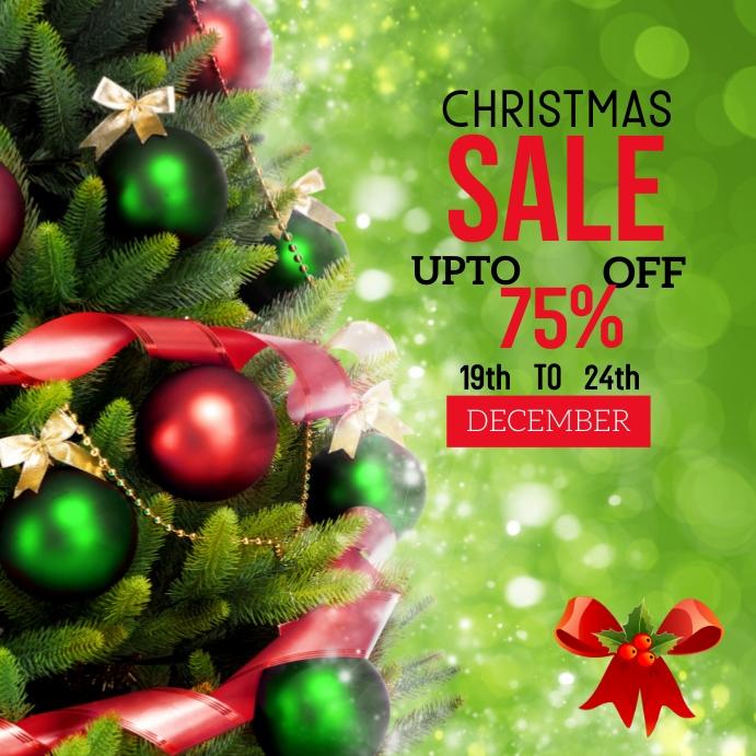 Christmas sale flyer Post Instagram template
