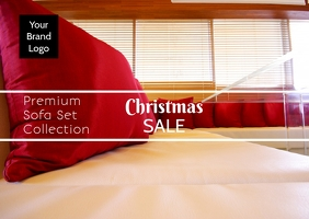 Christmas sale flyer poster template
