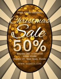 CHRISTMAS SALE FLYER TEMPLATE Folder (US Letter)