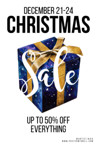 Christmas Sale Gift Clean White Poster