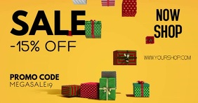 Christmas Sale Gifts Retail Store Shopping ad Anuncio de Facebook template
